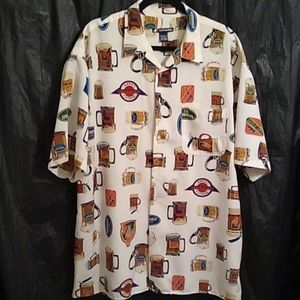 Ferruche  shirt with different beer mugs XL